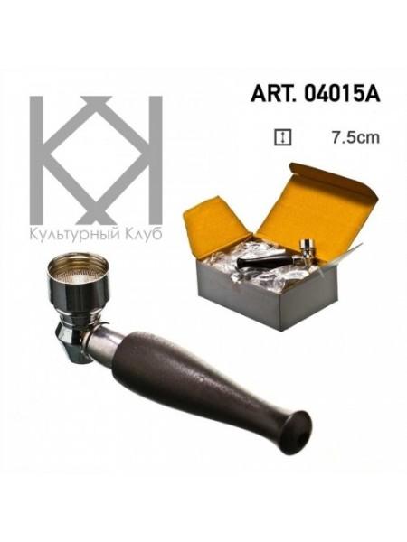 Трубка деревянная с металлической чашей 7.5 см