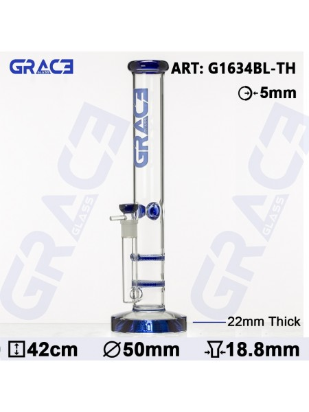 Grace Glass HAMMER Series | Blue Parallel tubes