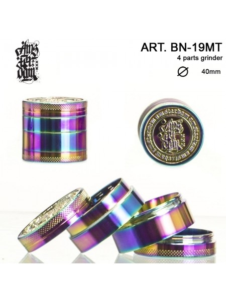 "Металлический гриндер ""Dope Bros"" 4 части - Ø:40mm  Rainbow"