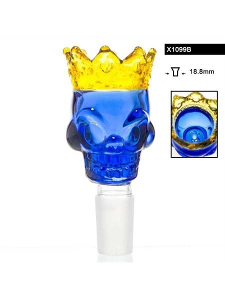 "Ведерко для бонга ""Skull King"" Синее. 18,8 мм."