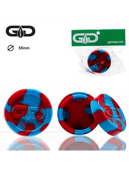 Кейс силиконовый Grace Glass Dabs Красно-голубой