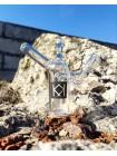 """Стеклянный баблер для косяков """"КК"""" от Sweet Glass"""