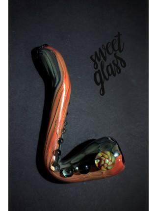 """Трубка стеклянная Sweet Glass """"Шерлок"""" Pink"""